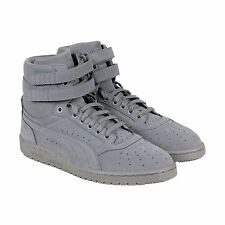 Puma Sky II Hi Mono NBK Mens Grey Nubuck High Top Lace Up Sneakers Shoes