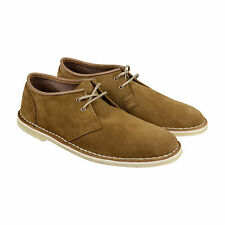 Clarks Jink Mens Tan Suede Casual Dress Lace Up Oxfords Shoes