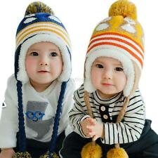 Lovely Winter Kids Baby Earflap Toddler Girls Boys Cartoon Cap Warm Crochet Hat