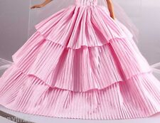 Fashion Handmade Barbie Party Pink Clothes/Dress/Skirt/Gown For Barbie Doll 110