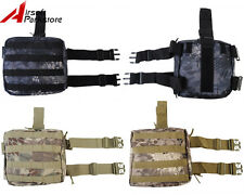 Tactical Molle Belt Magazine Drop Leg Thigh Pouch Utility Bag Airsoft Hunting