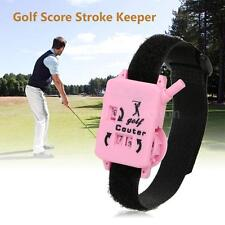 Golf Club Stroke Keeper Scoring Counting Putt Shot Counter with Wristband F7M1
