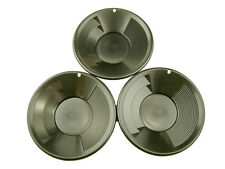 "Lot of 3 Black 8"" Gold Pans - Panning-Mining-Prospecting"