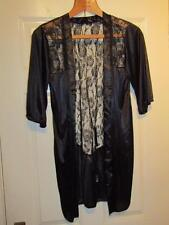 BLACK LACED BACK WATERALL NIGHT TOP - Size 12