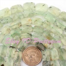 """Natural Prehnite Faceted Rectangle Shape Gemstone Spacer Beads 15""""/Lot Pick Size"""