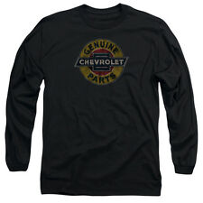 Chevy Genuine Chevy Parts Distressed Sign Mens Long Sleeve Shirt
