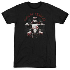 Sons Of Anarchy Ride On Mens Adult Heather Ringer Shirt