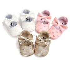 Toddler Girl Crib Shoes Infant Baby Bowknot Soft Sole Prewalker Sneakers 0-18M