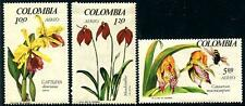 COLOMBIA Sc.# C489-91 Orchids Stamps