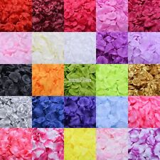 100pcs Silk Rose Flowers Petals for Wedding Party Table Confetti DIY Decorations