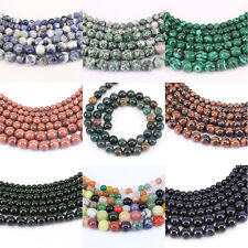 1 Bunch Gemstone Round Loose Spacer Charms Bead Stone Bead Jewelry 4/6/8/10/12mm