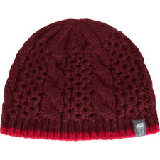 North Face Cable Minna Womens Headwear Beanie Hat - Deep Garnet Red One Size