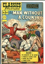 CLASSICS ILLUSTRATED #63-HRN 78-MAN WITHOUT A COUNTRY-EDWARD EVERETT HALE-fine