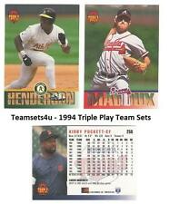 1994 Triple Play Baseball Team Sets ** Pick your Team **