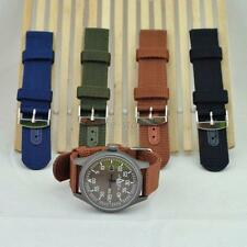 Durable Military Army Nylon Wrist Watch Nylon Fabric Band Strap 18/20/22/24mm