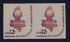 "1816b - F-VF Imperf Error / EFO Pair ""Liberty Torch"" Mint NH Cat $135"