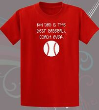 My Dad is The Best Baseball Coach Infant One-Piece - Youth T-Shirt 6mos-18/20Y_