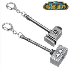 WOW World of Warcraft Saar Hammer of the Horde Alliance Weapons Keychain Keyring