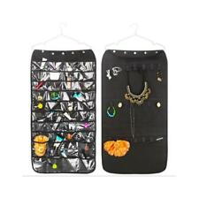 Closet Hanging Jewelry Organizer Bag Holder Pockets Display Case Shelf