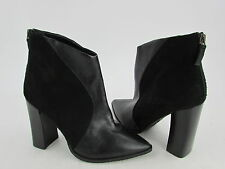 NEW Kenneth Cole Reaction Yee Ha Women's Black Leather Ankle Boots