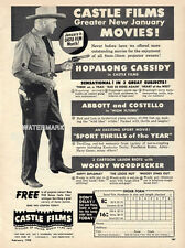 William Boyd in a rare non Hopalong Cassidy outfit - Vintage Advertisement, 1950