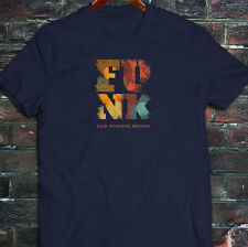Funk Old School Vintage Music Classic Retro Disco Mens Navy T-Shirt