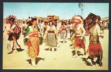 CEREMONIAL INDIAN DANCE New Mexico Indian Postcard