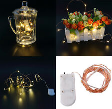 Copper Wire Fairy Starry String Led Lights Home Christmas Wedding Party Decor