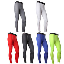 Mens Compression Base Layers Fit Dry Sports Pants Gym Long Trousers Leggings UK