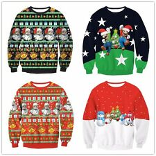 Women Christmas Hooded Sweatshirt Jumper Pullover Tops Blouses Outerwear Fashion