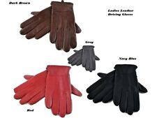 Ladies 100% Soft Leather Winter Fleece Lined Driving Gloves  S/M M/L