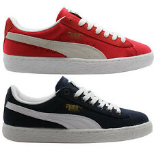 Puma Basket Classic Canvas Mens Trainers Blue Red Lo 355759 356174