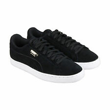 Puma Suede Classic Debossed Q3 Mens Black Suede Lace Up Sneakers Shoes