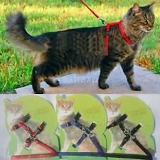 Small Dog Pet Puppy Cat Adjustable Nylon Harness with Lead leash 3 Colors New