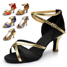 Women Strong New Latin Dance Salsa Shoes Light Sole Tango Heeled  Ballroom Shoes