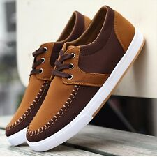 New Mens Flat Running Sport Leisure Canvas Fashion Casual Sneakers Lace-up Shoes