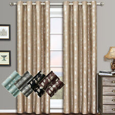 "Charlotte Grommet Jacquard Window Curtains (Set of 2) 104W x 84""L 100% polyester"