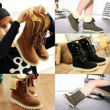 Fashion Women Winter Warm Flat Heel Ankle Snow Boot Fleece Lined Size 36-40