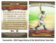 2010 Topps History of the World Series Baseball Team Sets ** Pick Your Team **