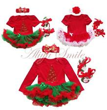Newborn Baby Girl 1st Christmas Festival Holiday Party Romper Tutu Dress Outfits