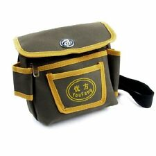 Adjustable Black Waist Strap 3 Pockets Electrician Bag Army Green Yellow