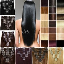 On Sale Excellent Full Head 7PCS Clip In Remy Human Hair Extensions 15''18''20''