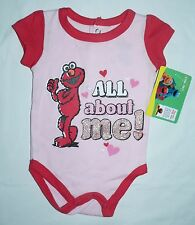 Licd. ELMO Girls One-Piece All-In-One -Sz 0-3mth,3-6mth,6-9mth-Imported from USA