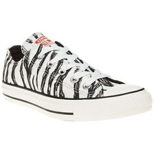 New Boys Converse Natural All Star Ox Canvas Trainers Animal Lace Up
