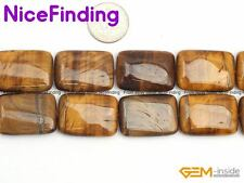 "Natural Rectangle Flat Stone Beads For Jewelry Making Strand 15"" Stone Assorted"