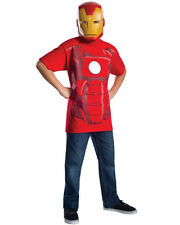 Child's Marvel Comics Universe Avengers Iron Man T-Shirt With Mask