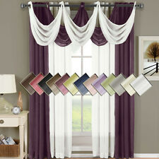 "Abri Grommet Crushed Sheer Window 50x108"" Panel (Single) OR Waterfall Valaces"