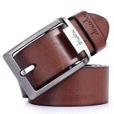 1× Fashion Men's Black/Brown Casual Pin Buckle Belt Faux Leather Belts Waistband