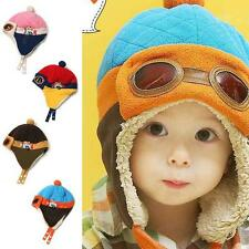 Toddler Kids Pilot Earflap Soft Hat Winter Warm Cap Hat Baby Boys Girls 6M-4Y