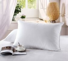 King Luxury 500 Thread Count Combed  Cotton White Goose Down Pillow
